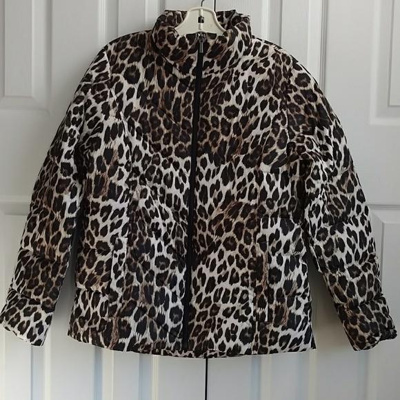 bc3353633c4c Lands' End Jackets & Coats | Lands End Nwt Leopard Print Womens Down ...